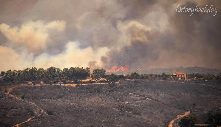 ไฟป่าแผดเผา
