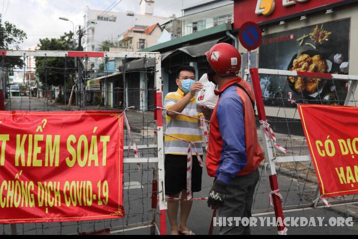 เวียดนามเข้มงวดสั่งล็อกดาวน์เพิ่ม เพื่อต่อสู้กับการระบาดครั้งใหญ่ นครโฮจิมินห์ มหานครที่ใหญ่ที่สุดของเวียดนามถูกปิดอย่างเข้มงวดในวันจันทร์